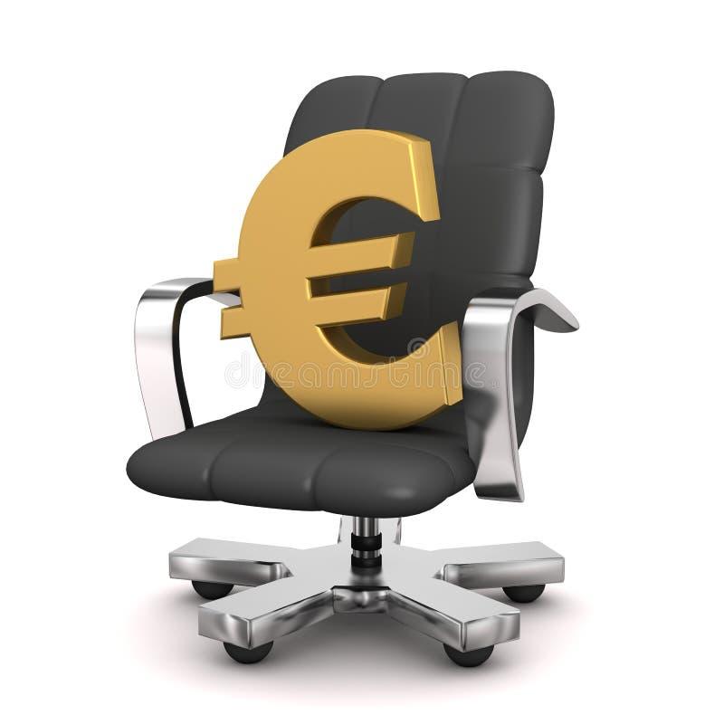 Euro da poltrona ilustração do vetor