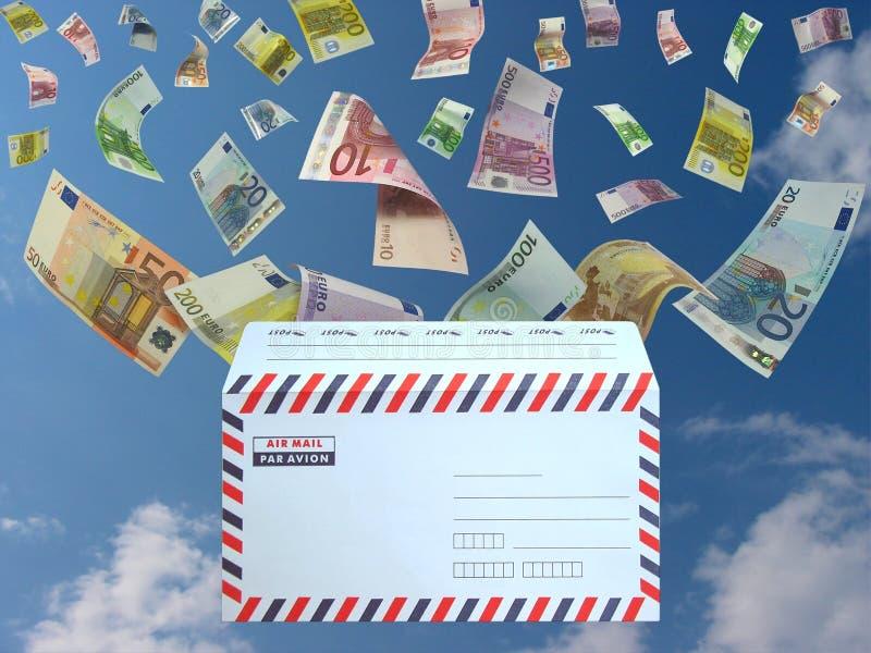 Euro dalla posta royalty illustrazione gratis