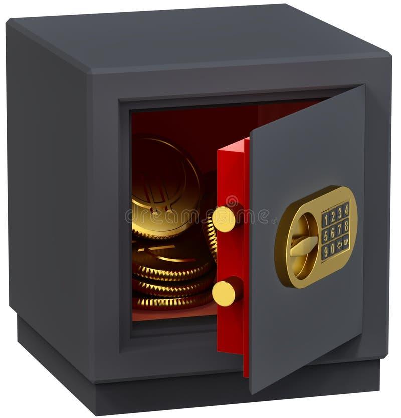 Euro in de brandkast vector illustratie