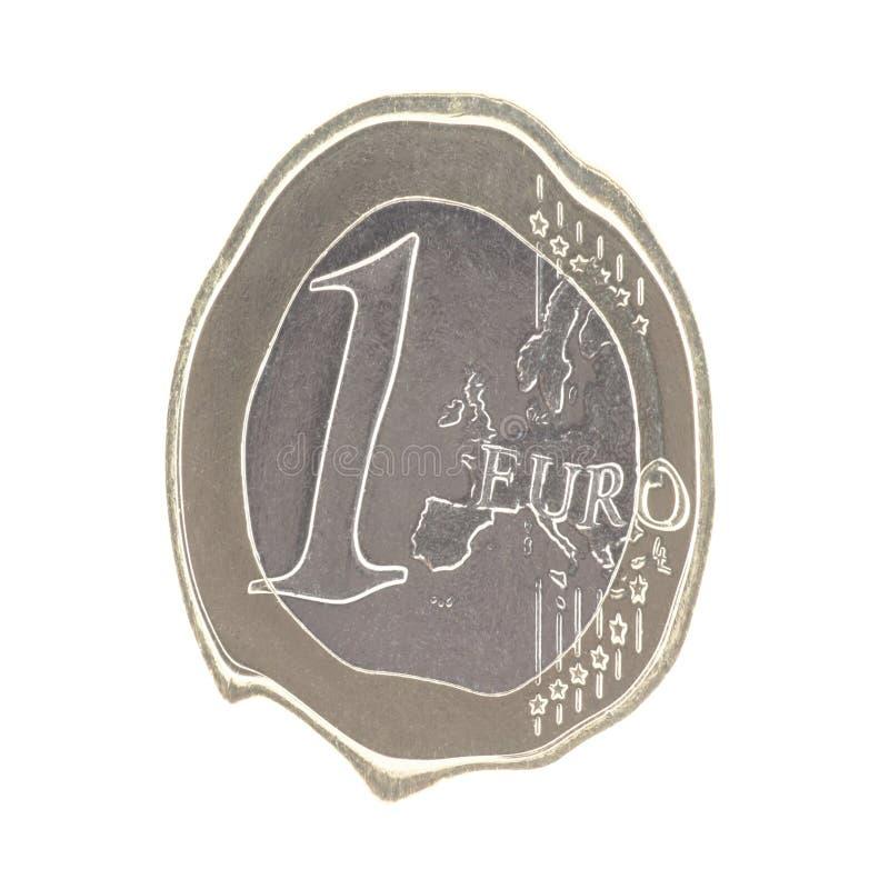 Euro de derretimento foto de stock royalty free