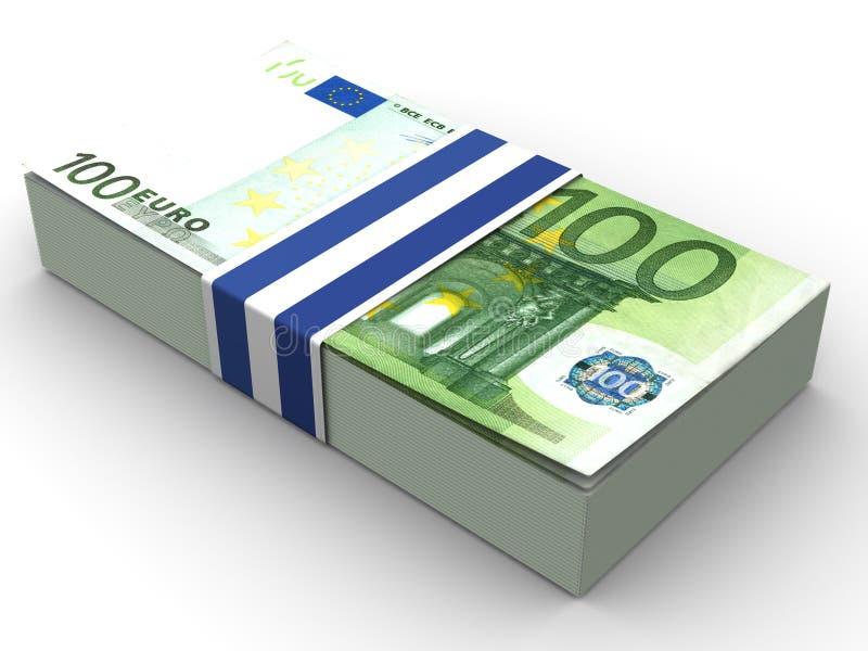 Euro de Handred ilustração stock