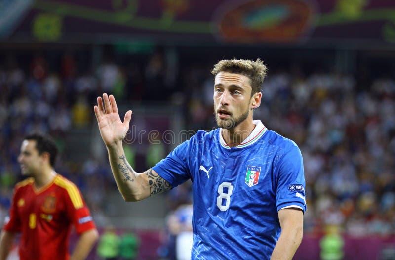 EURO de l'UEFA 2012 derniers jeux Espagne contre l'Italie image stock