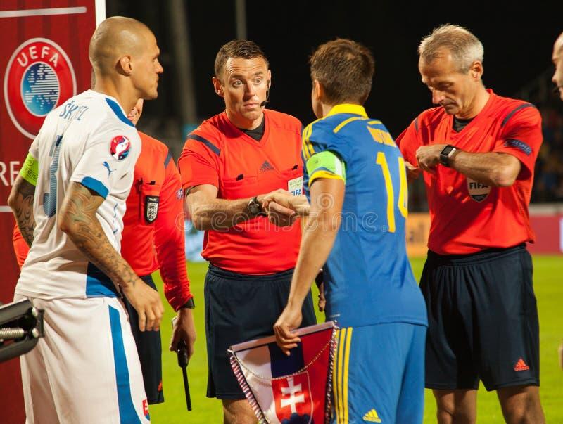 EURO de l'UEFA Slovaquie 2016 - l'Ukraine s'assortissent le 8 septembre 2015 images stock