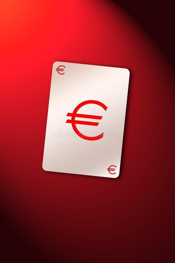 Euro de la tarjeta que juega ilustración del vector