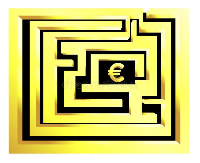 Euro de Labirinth imagen de archivo libre de regalías
