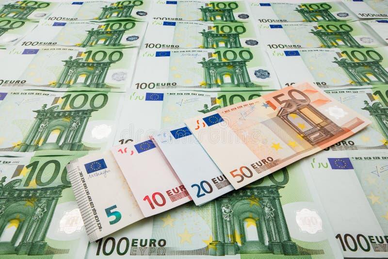 Euro de monnaie fiduciaire Fond des billets de banque photo stock
