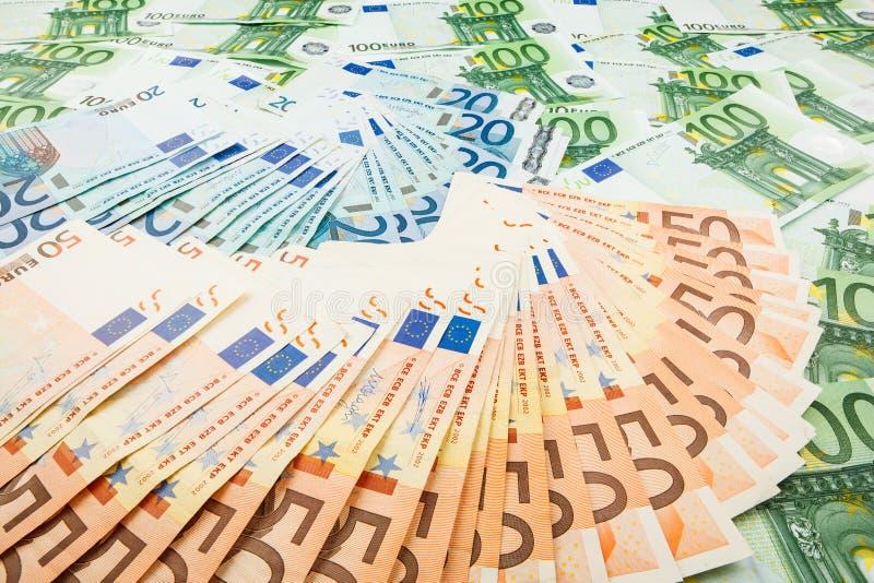 Euro de monnaie fiduciaire Fond des billets de banque photo libre de droits