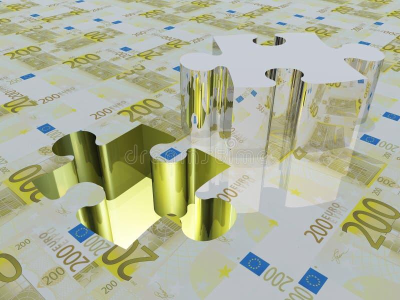 Euro de partie de puzzle illustration de vecteur