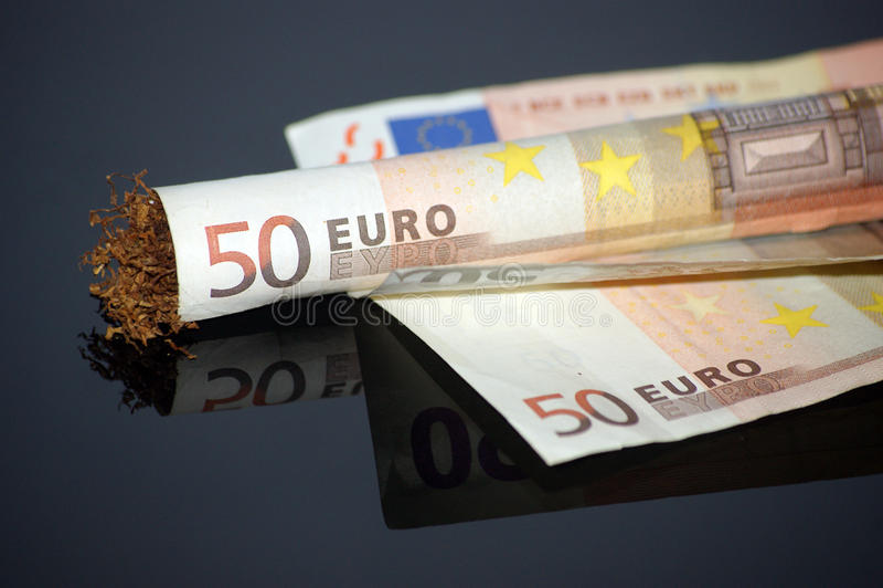 Euro 50 de rolamento fotos de stock
