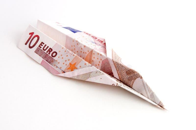 Euro de voo imagens de stock