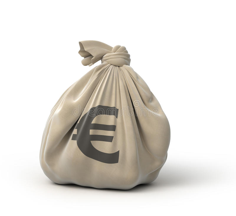 Euro del bolso del dinero ilustración del vector