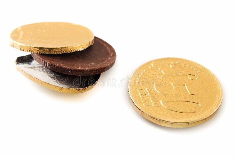 Euro del cioccolato immagini stock