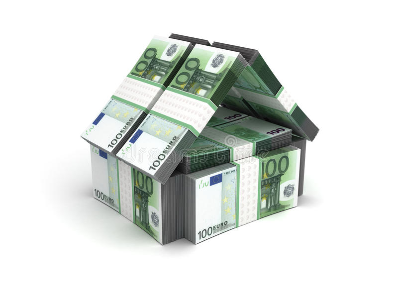 Euro del concepto de Real Estate stock de ilustración