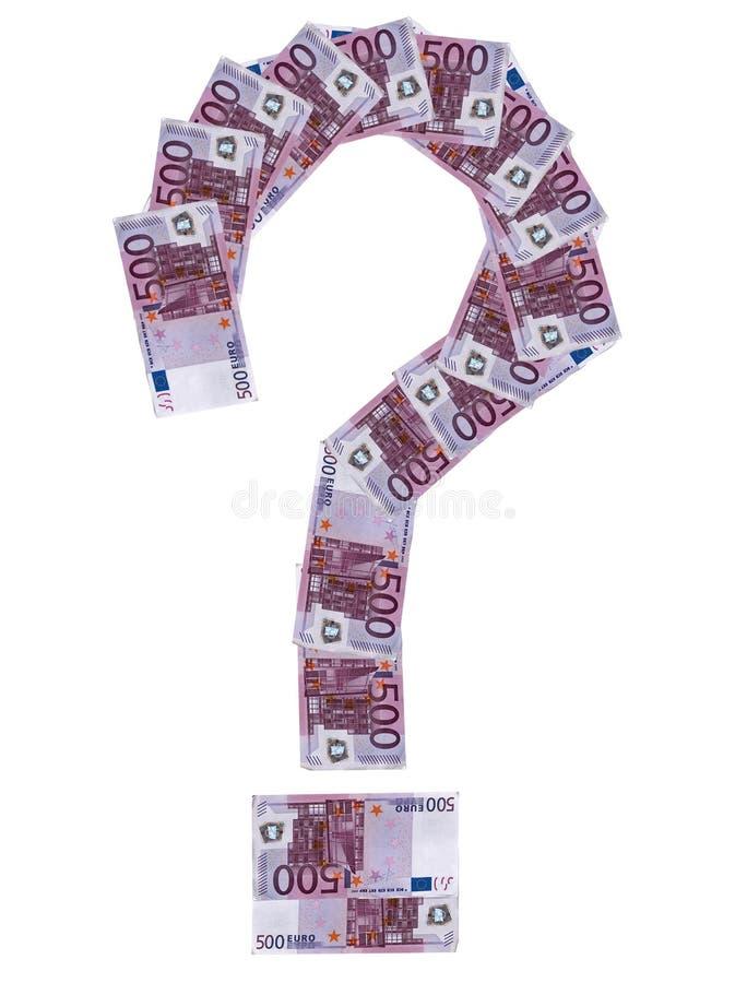 euro del Domanda-contrassegno fotografia stock