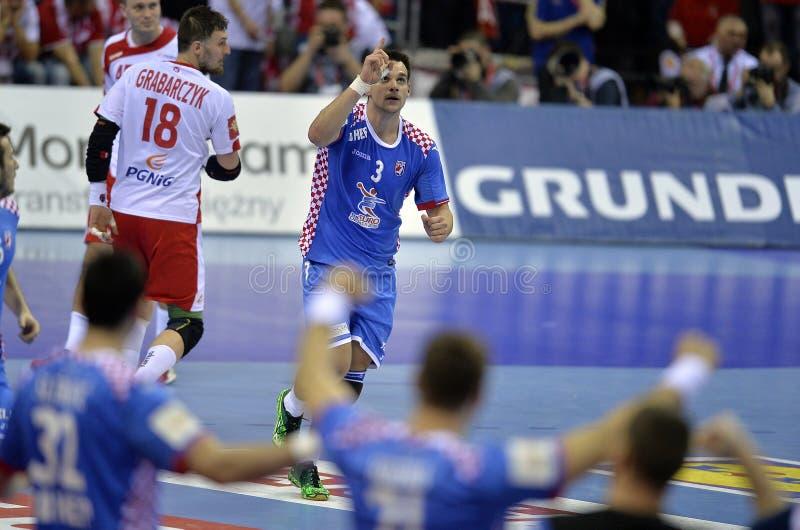 EURO del EHF Polonia 2016 Croacia foto de archivo