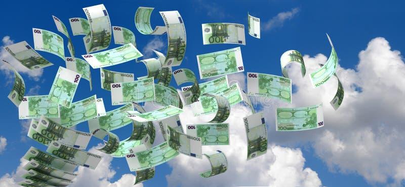 Euro del vuelo libre illustration