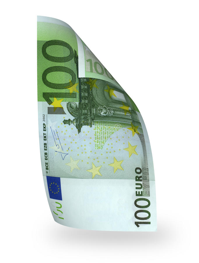 Euro della banconota 100 immagine stock