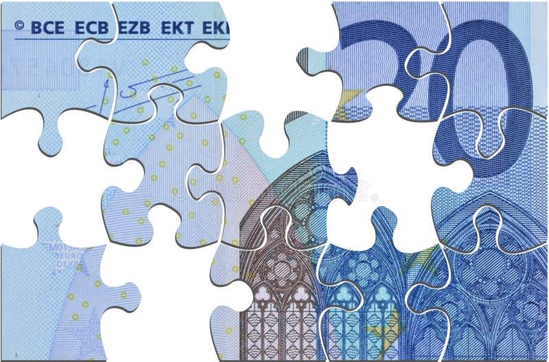 Euro in der Krise lizenzfreie abbildung