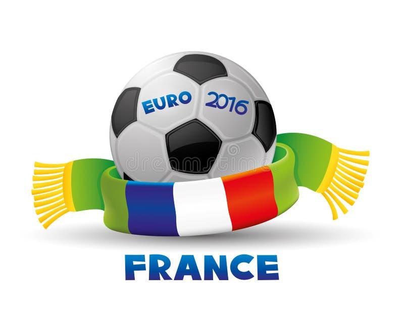 Euro 2016 di calcio in Francia royalty illustrazione gratis