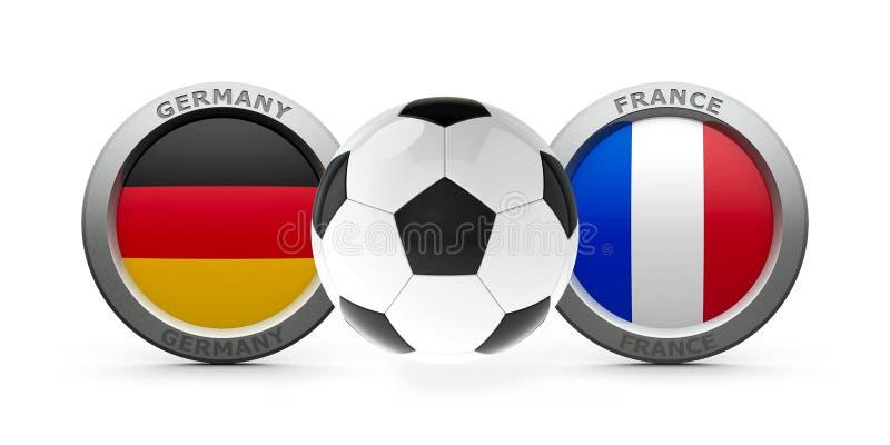 Euro 2016 di semifinale - la Germania contro france royalty illustrazione gratis