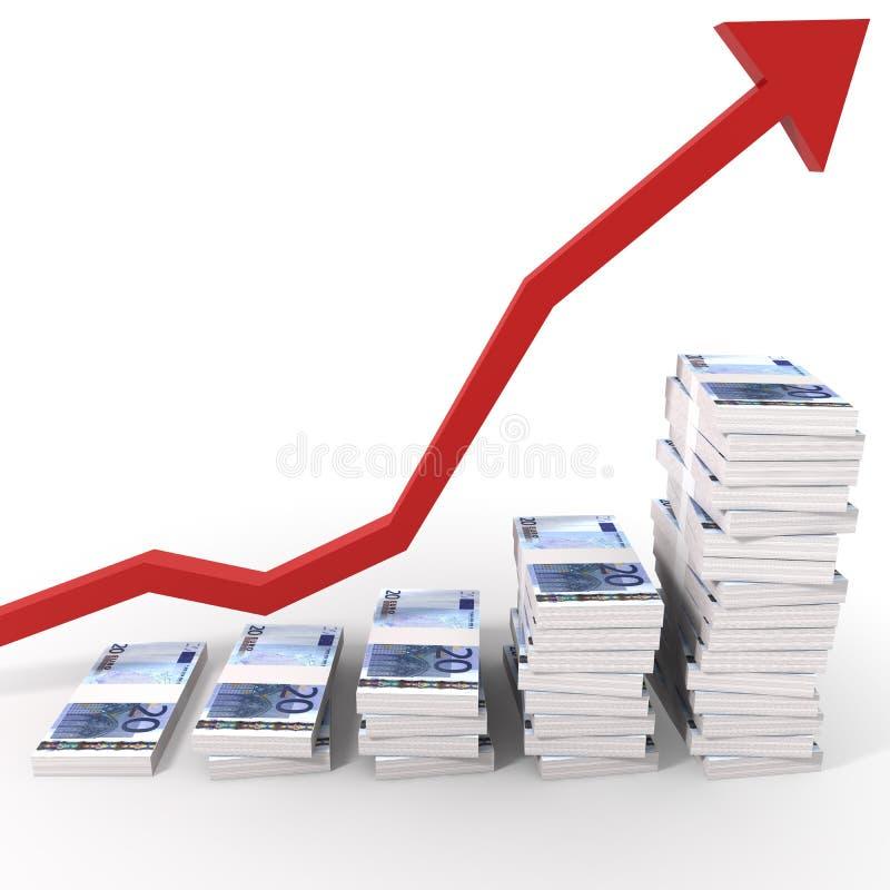 Euro diagramma dei soldi illustrazione vettoriale