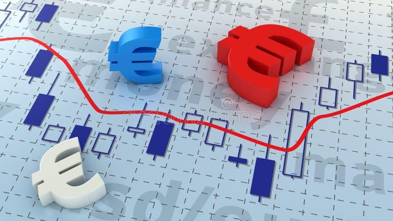 Euro diagramme illustration libre de droits