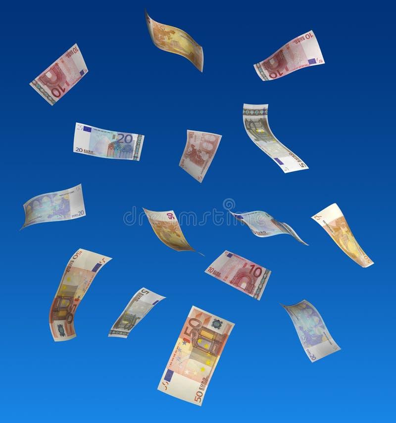 Euro, die in einer Luft schwimmen lizenzfreie stockbilder