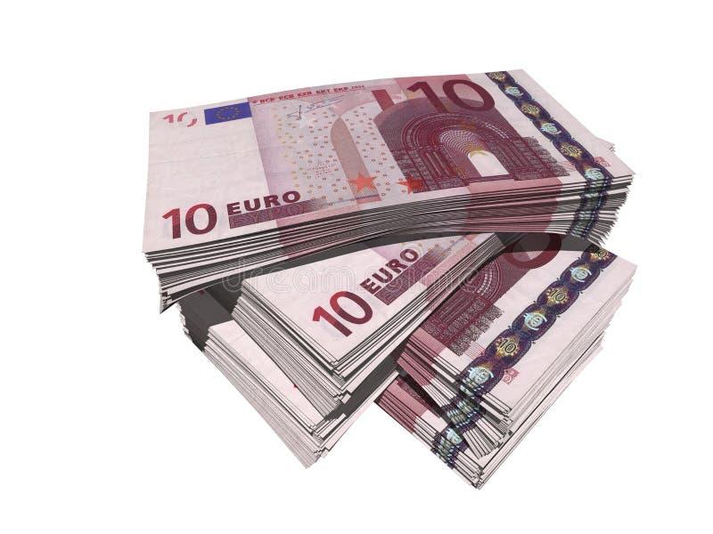 Euro diez ilustración del vector