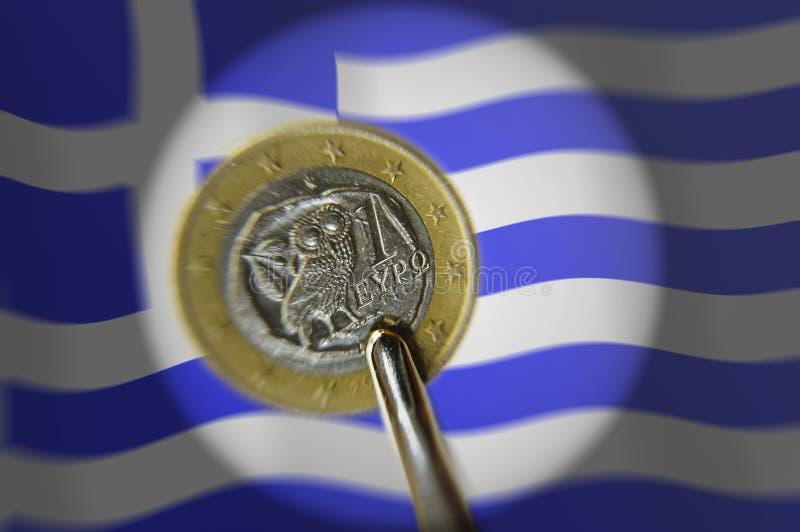 Euro dilemme grec photographie stock libre de droits