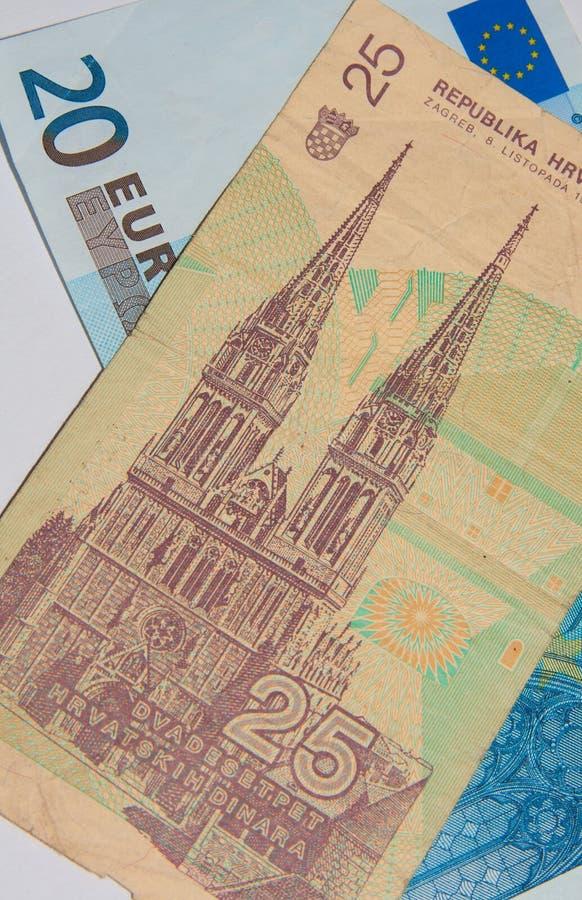 Euro - Dinar royalty-vrije stock foto's