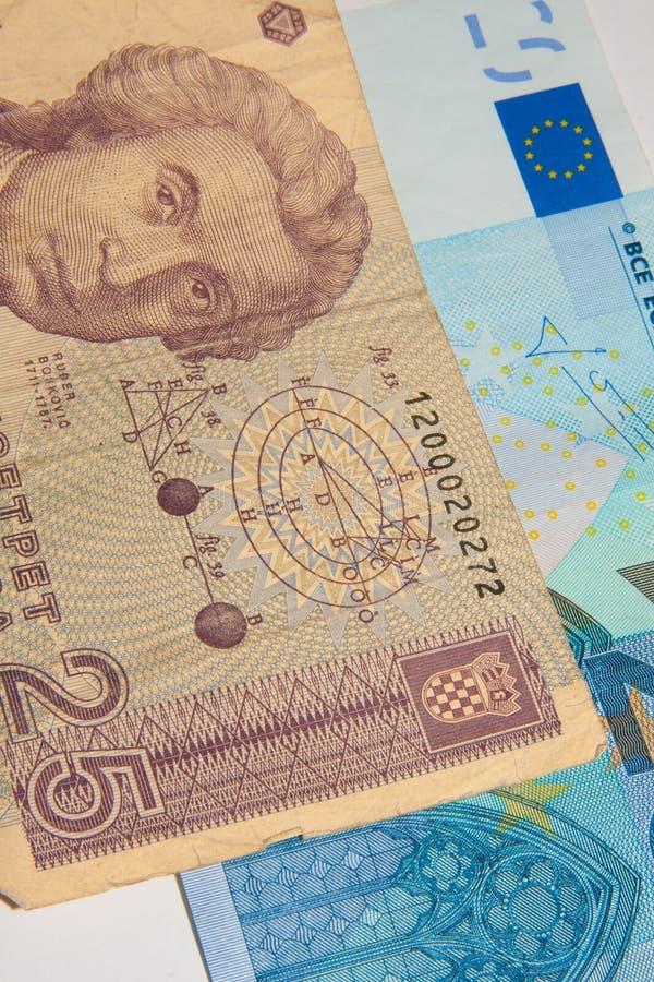 Euro - Dinar stock afbeeldingen