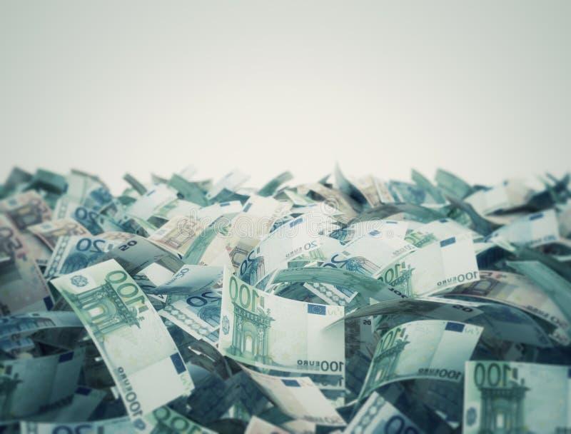 Euro do fundo das cédulas ilustração do vetor