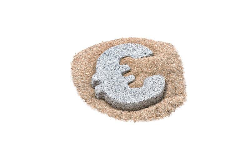 Euro do granito na areia fotos de stock