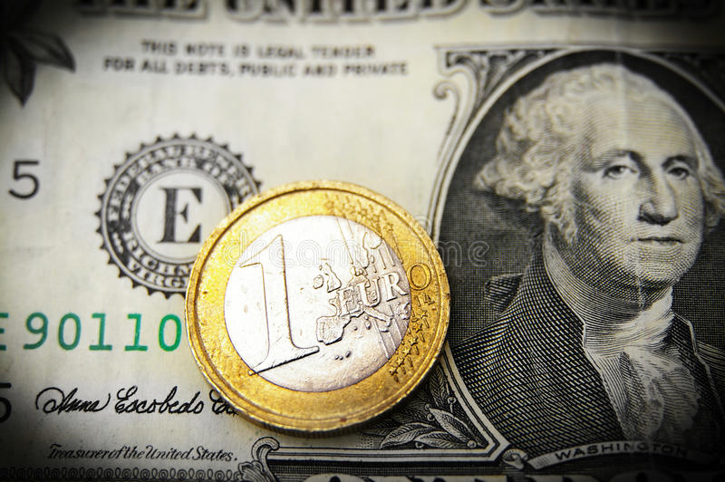 Download Euro and dollar stock image. Image of rate, coin, exchange - 21203195