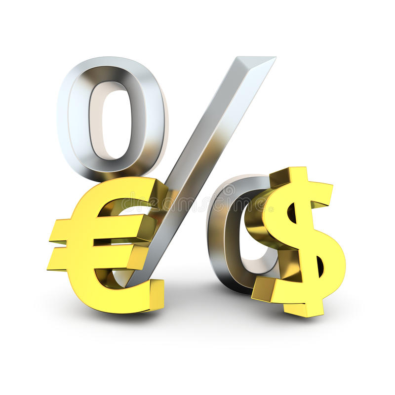 Dollar To Euro Exchange Rate Stock Illustration Illustration Of