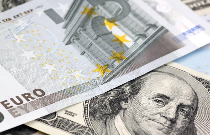 Download Euro and dollars banknotes stock image. Image of euros - 23977919