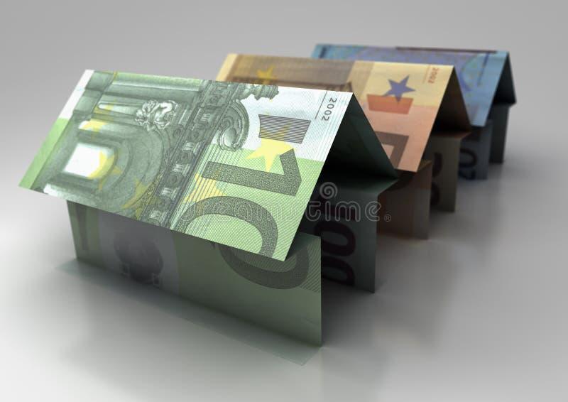Euro dom ilustracja wektor