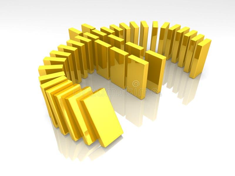 Euro domino stock illustratie