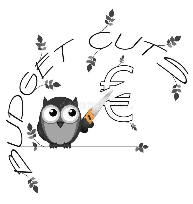 Euro dos cortes no orçamento ilustração do vetor