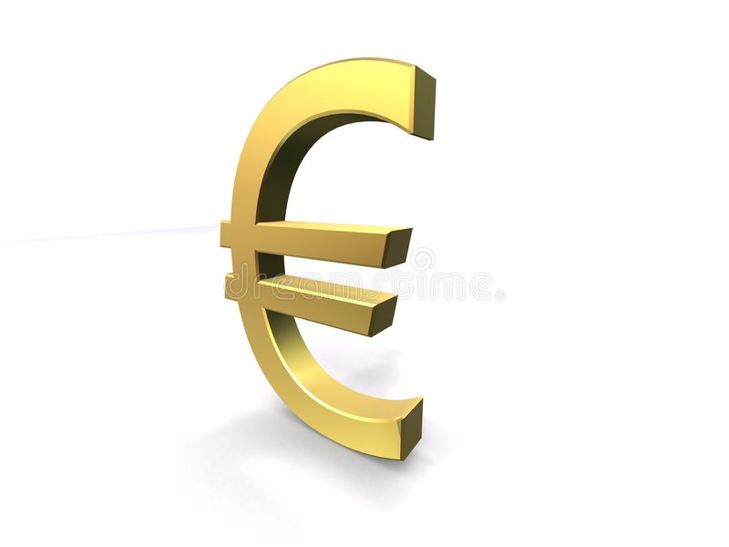 Euro dourado ilustração royalty free