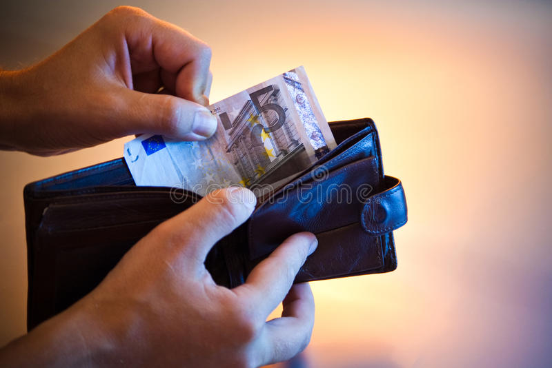 Euro du bout cinq images libres de droits