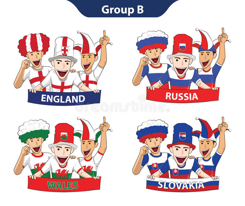 Euro 2016 du groupe B illustration libre de droits