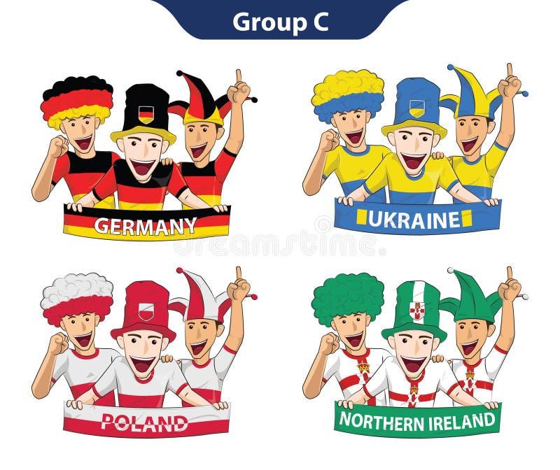 Euro 2016 du groupe C illustration libre de droits