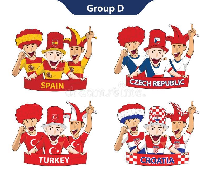 Euro 2016 du groupe D illustration stock