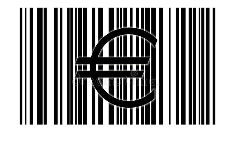 Euro e código de barra ilustração do vetor