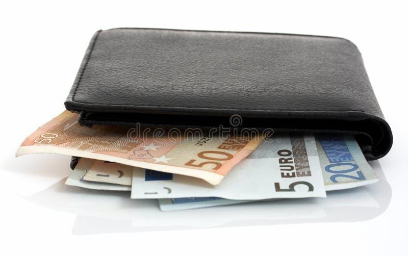 Euro e raccoglitore fotografia stock
