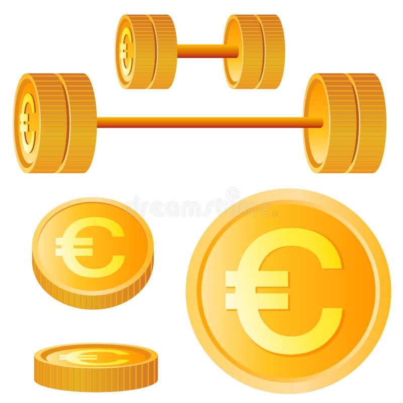 Euro- elementos do projeto ilustração stock