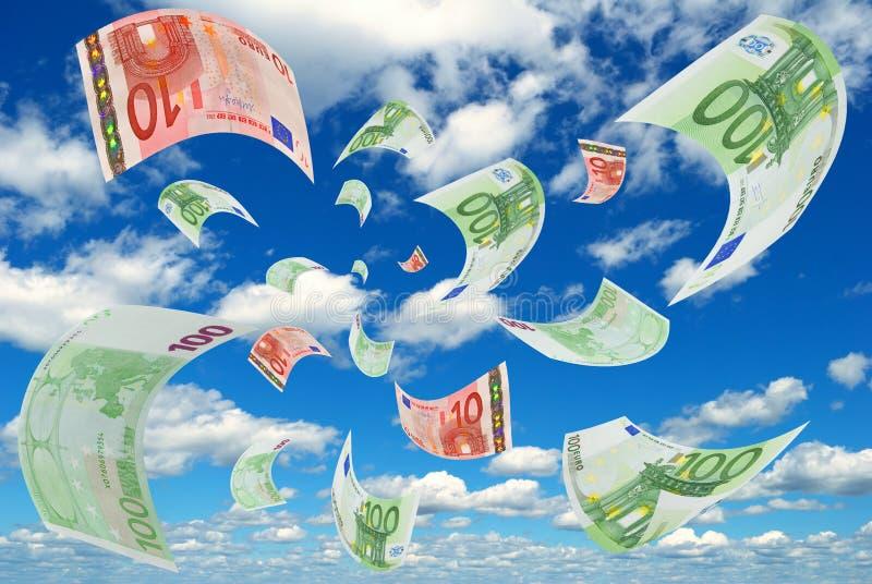 Euro en cielo. imagenes de archivo