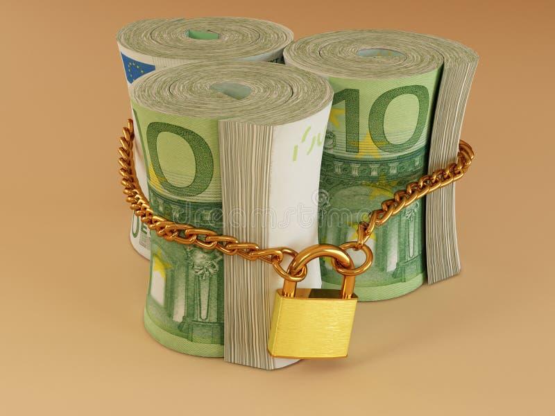 Euro en el bloqueo libre illustration