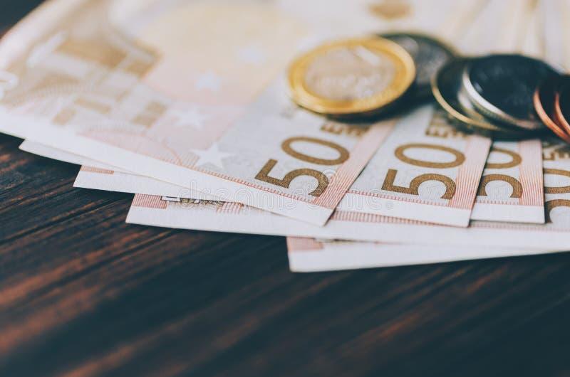 Euro en la tabla imagenes de archivo